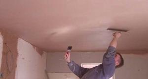 Jak omítat strop